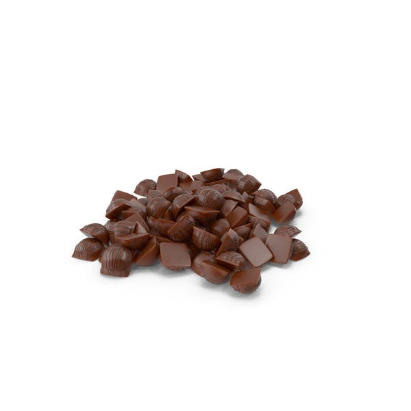 Pile of Mini Chocolate Candies