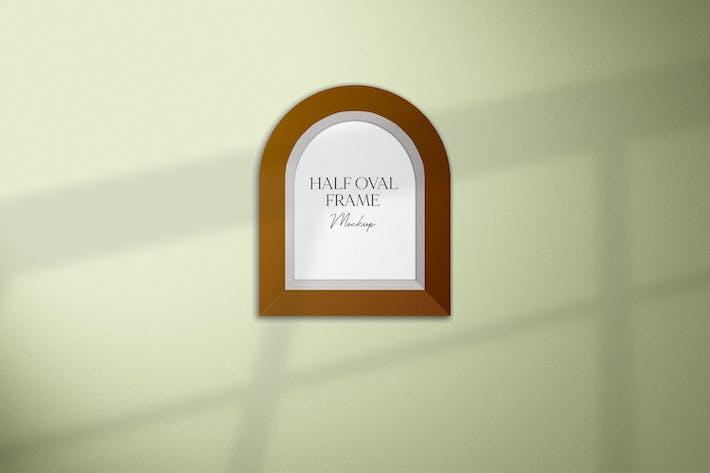 Half Oval Frame Mockup