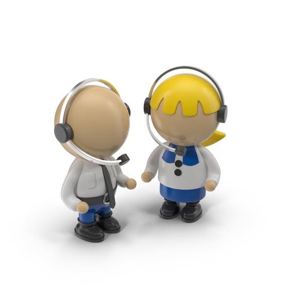 Cartoon Operator Characters