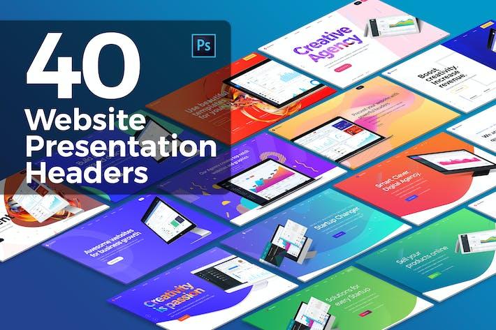Thumbnail for 40 Website Presentation Headers