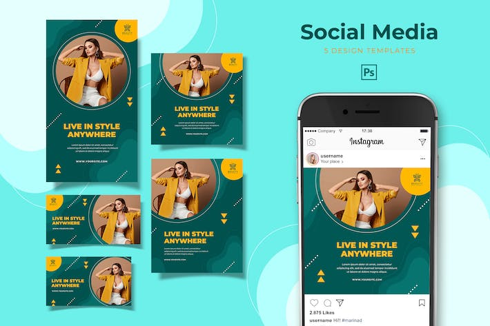 Thumbnail for Fashion Lifestyle Social Media Pack