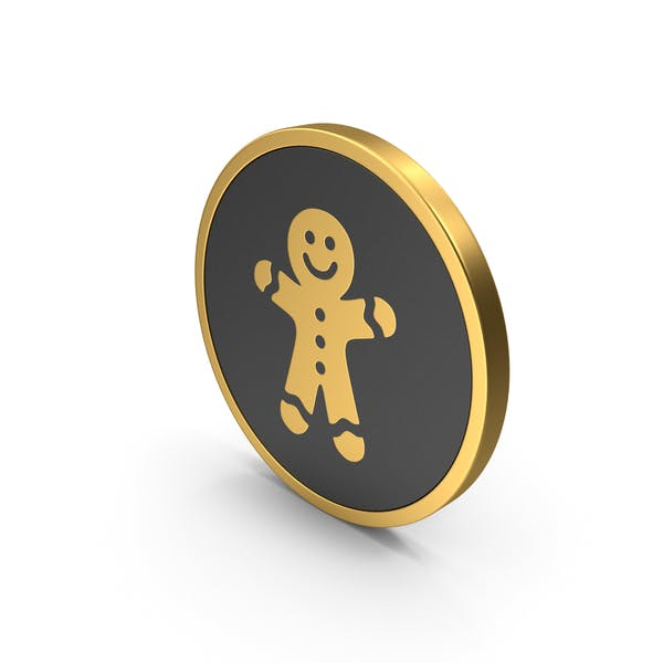 Gold Icon Gingerbread Man