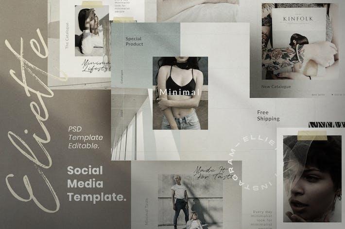 Thumbnail for Elliette - Social Media Vorlage + Stories