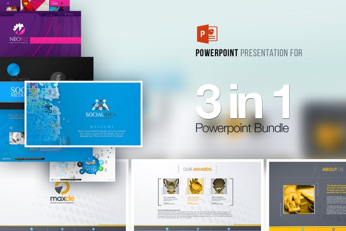 Download 1296 landing page templates on envato elements 3in1 powerpoint templates bundle toneelgroepblik Gallery