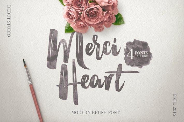 Thumbnail for Merci Heart Brush Script