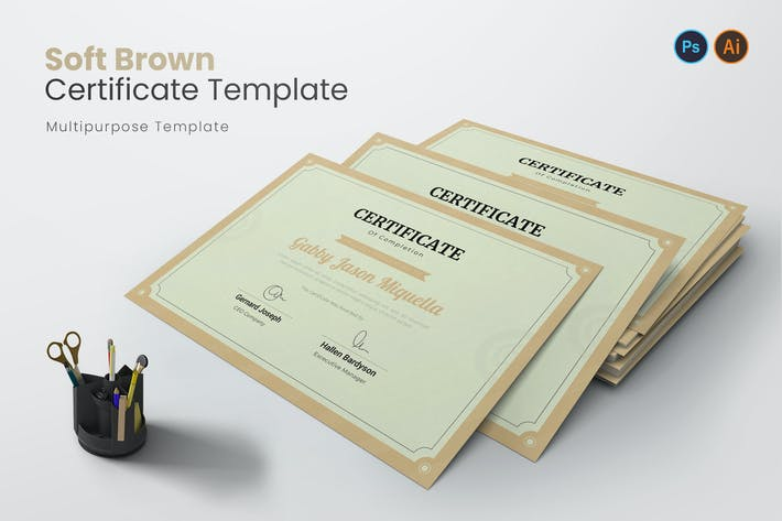 Thumbnail for Soft Brown Certificate