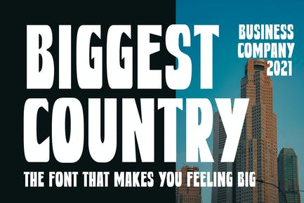 Biggest Country Bold Advertisement Font