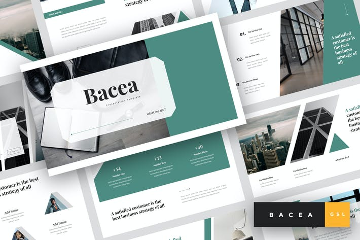 Thumbnail for Bacea - Business Google Slides Template