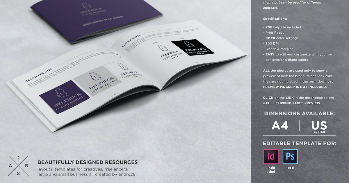 Brand Manual Template by andre28 on Envato Elements