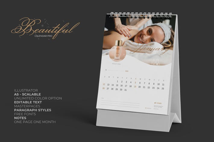 Cover Image For 2020 Clean Creative Beauty Calender Pro