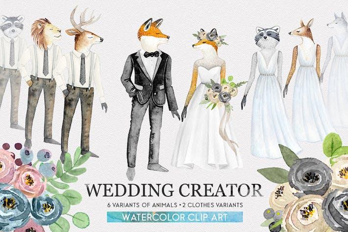Thumbnail for Wedding Character Creator Kit acuarela