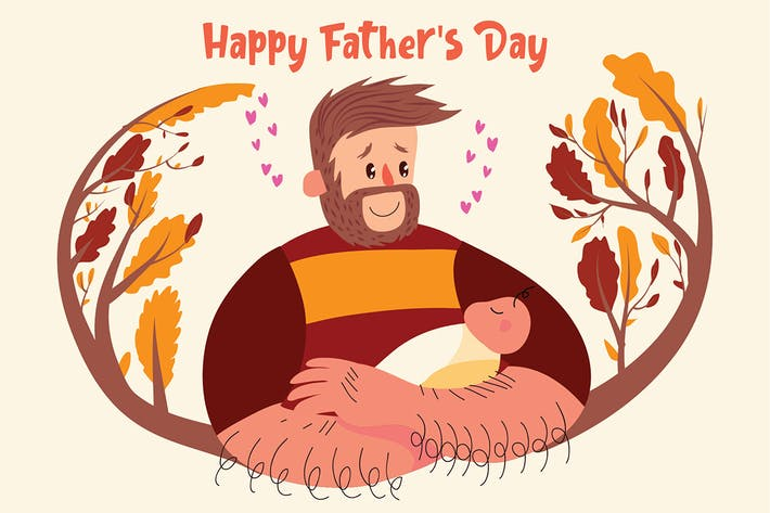 Thumbnail for Fathers Day - Vector Illustration