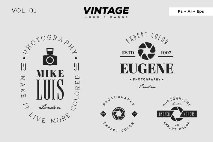 Thumbnail for Vintage Logo & Badge Vol. 1