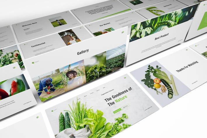 Thumbnail for Vegetables Powerpoint Template