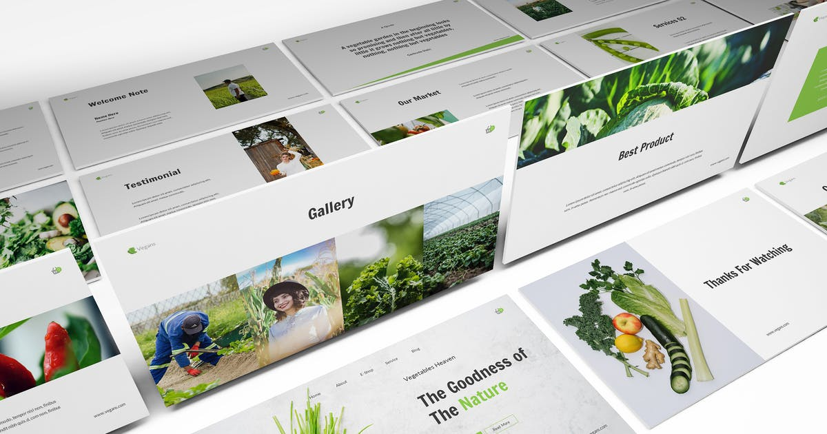 Download Vegetables Powerpoint Template by Formatika