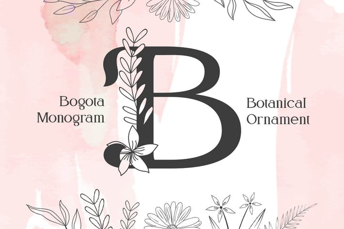 Thumbnail for Bogota Monogram Font