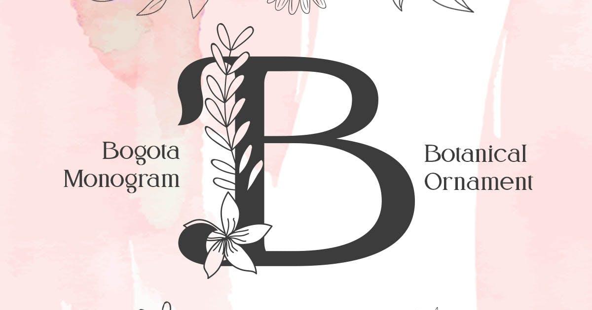 Download Bogota Monogram Font by YumnaStudio