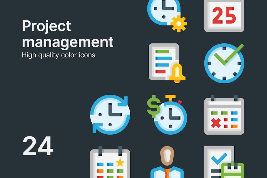 Projektmanagement-Symbole