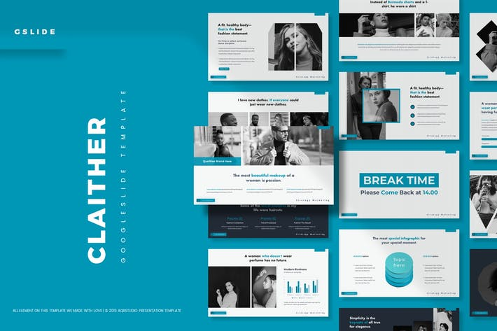 Cover Image For Claither - Google Slides Template