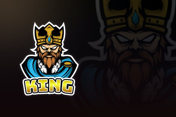 Thumbnail for THE KING MASCOT LOGO TEMPLATE