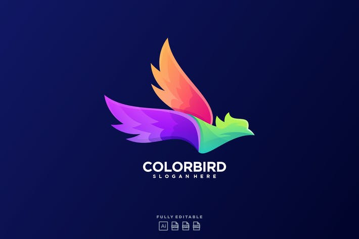 Thumbnail for Color Bird Fly Art Logo