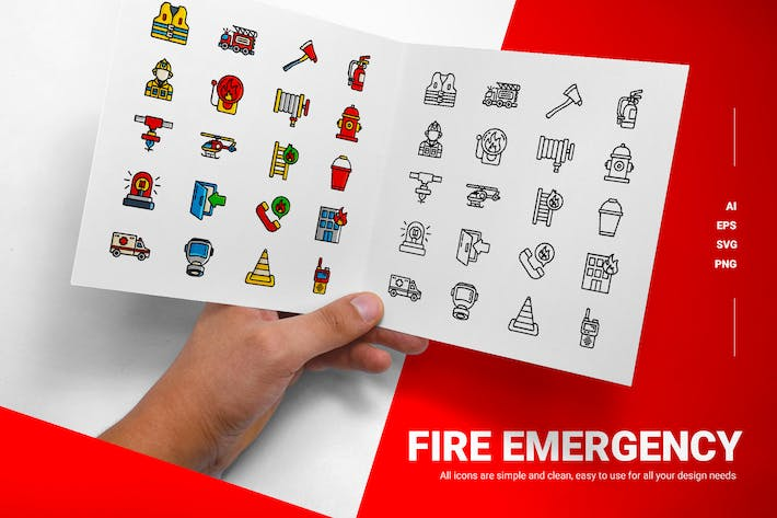 Fire Emergency - Icons