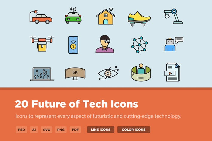 20 Future of Tech Icons