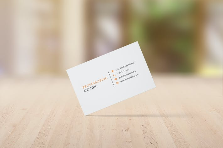 Thumbnail for 85x55 Business Card Mockup - Set 3