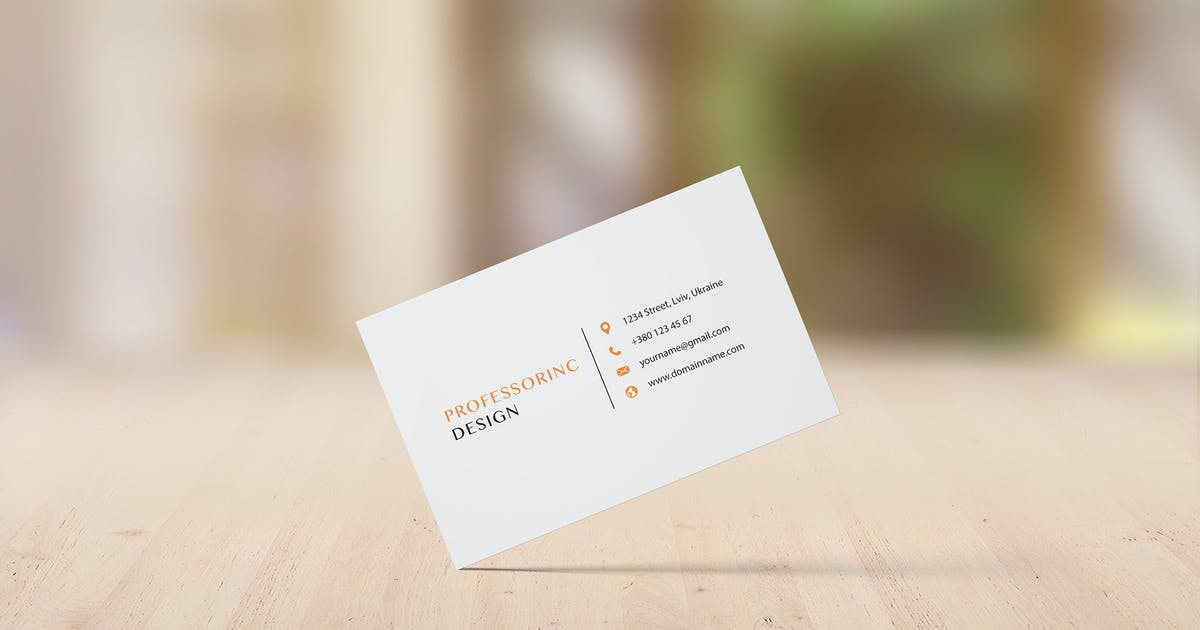 Download 85x55 Business Card Mockup - Set 3 by professorinc