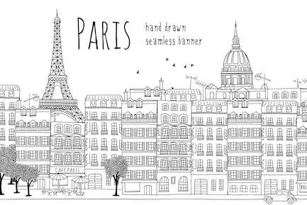 Paris - Nahtloses Banner