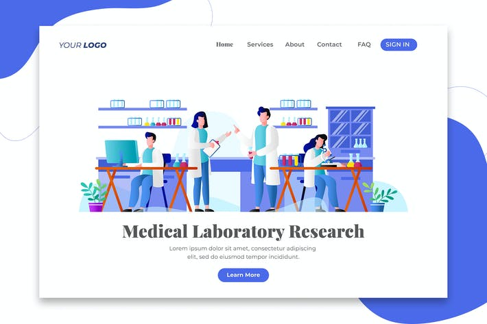 Thumbnail for Medical Laboratory Research - Landing Page
