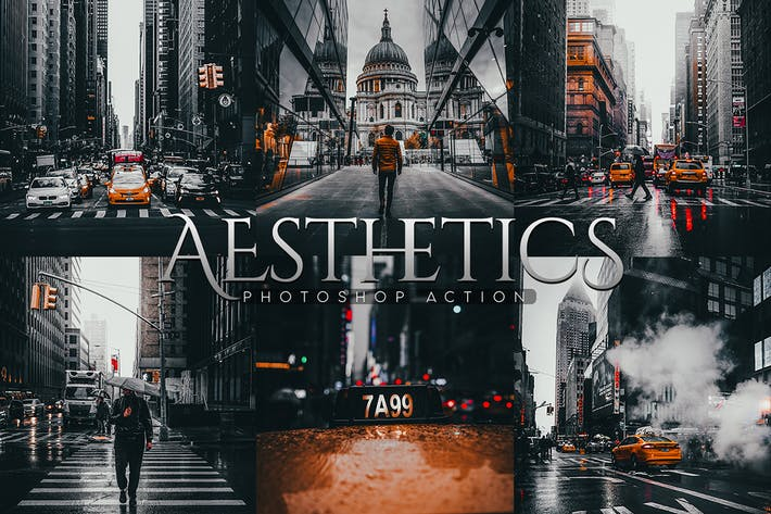 Thumbnail for Aesthetics Photoshop Action