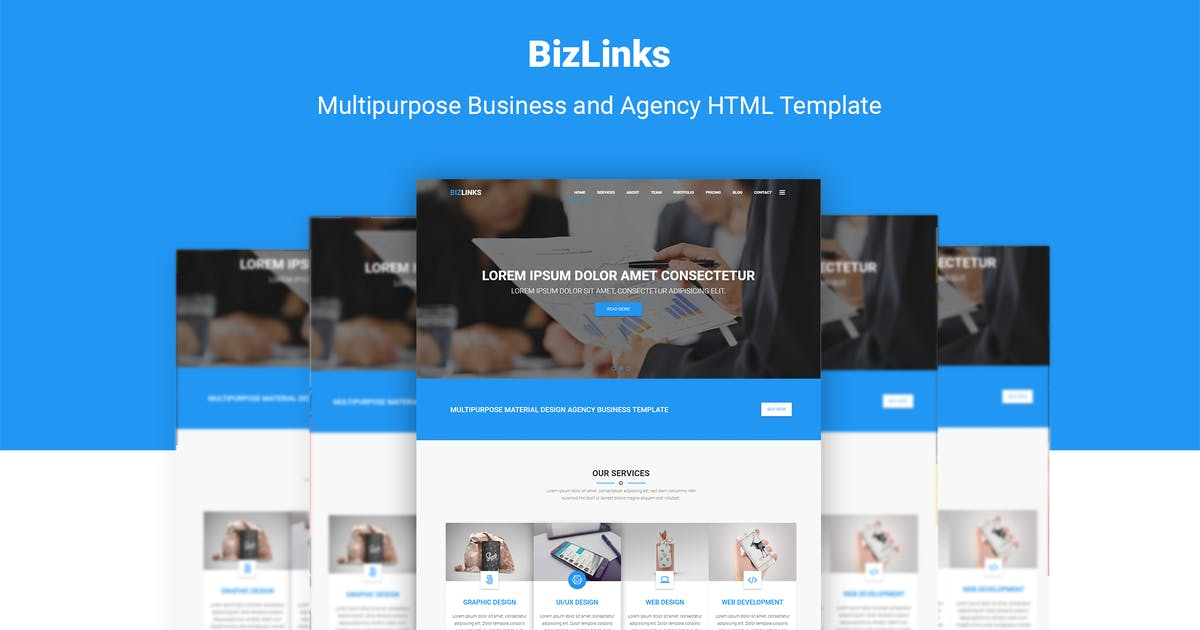 Download BizLinks | Multipurpose Business & Agency Template by themelooks