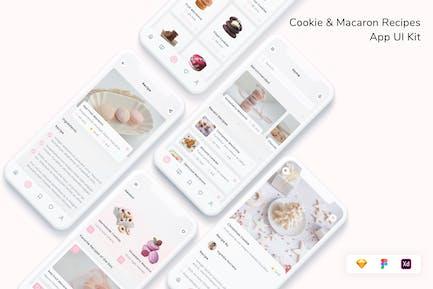 Cookie & Macaron Rezepte App UI Kit