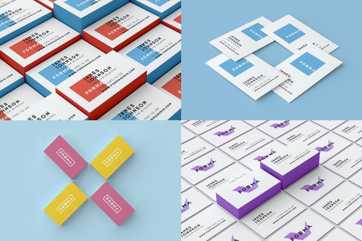 Thumbnail for Business Cards Mockups Pack