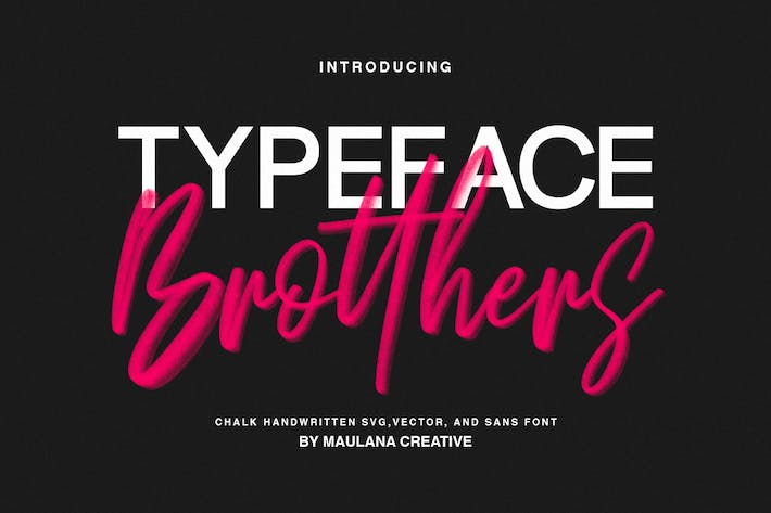 Thumbnail for Brotthers - SVG Brush Free Sans Font