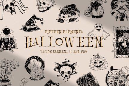 Halloween Illustration Collection