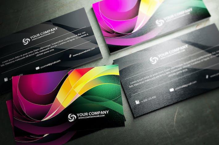 Thumbnail for Swirls Business Card Design