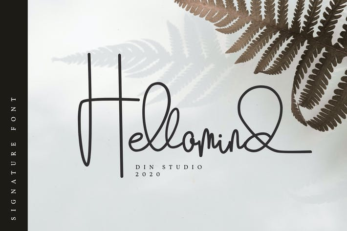 Hellomind-Beautiful Signature Font