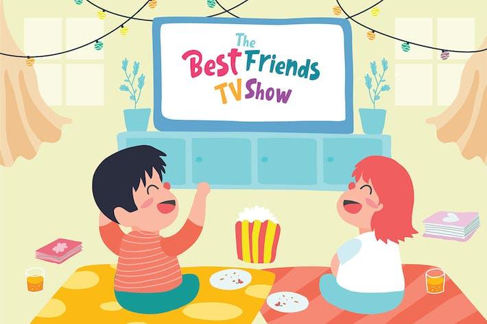 Thumbnail for Best Friends TV - Vector Illustration