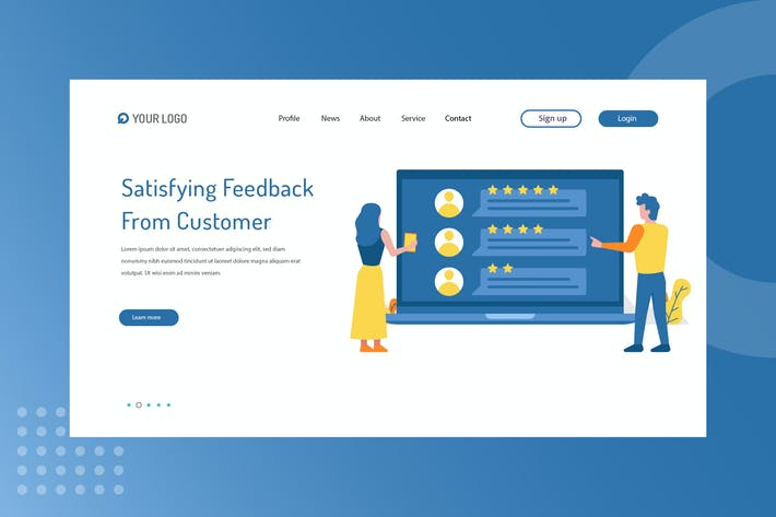 Thumbnail for Satisfying feedback from Customer Landing Page