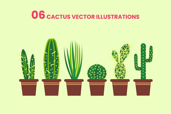 Thumbnail for 06 Cactus Vector Illustrations