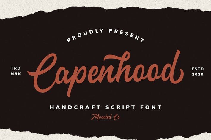 Thumbnail for Capenhood HandLetter Font