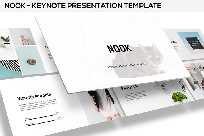 Cover Image For Nook - Minimal Keynote Template