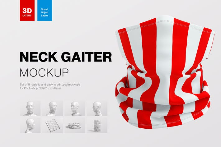 Thumbnail for Neck Gaiter Mockup