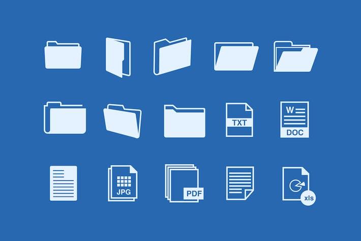 Thumbnail for 15 File Folder Icons