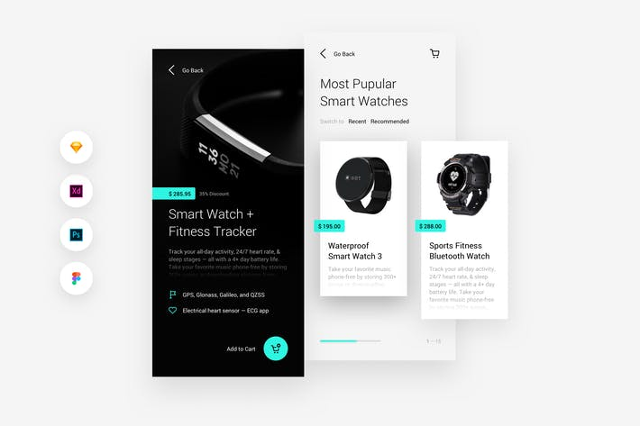 Thumbnail for Shopping & Store Mobile iOS & Android UI Kit