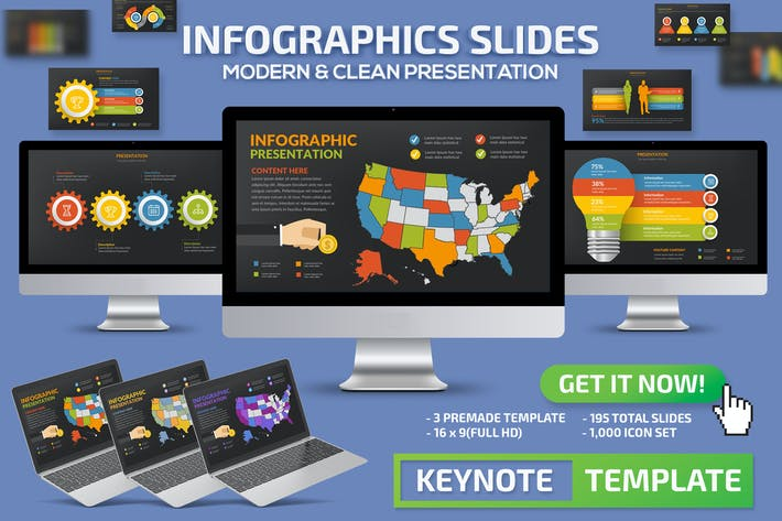 Thumbnail for Infographics Slides Keynote Presentation