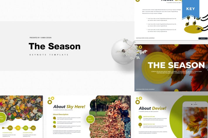 Thumbnail for The Season | Keynote Template