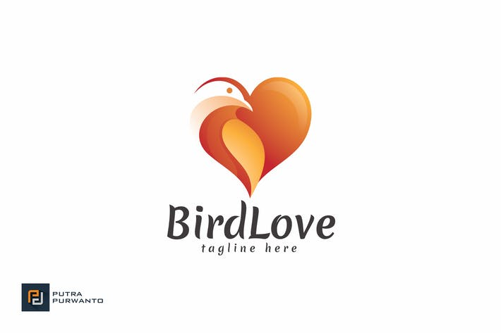 Thumbnail for Bird Love - Logo Template